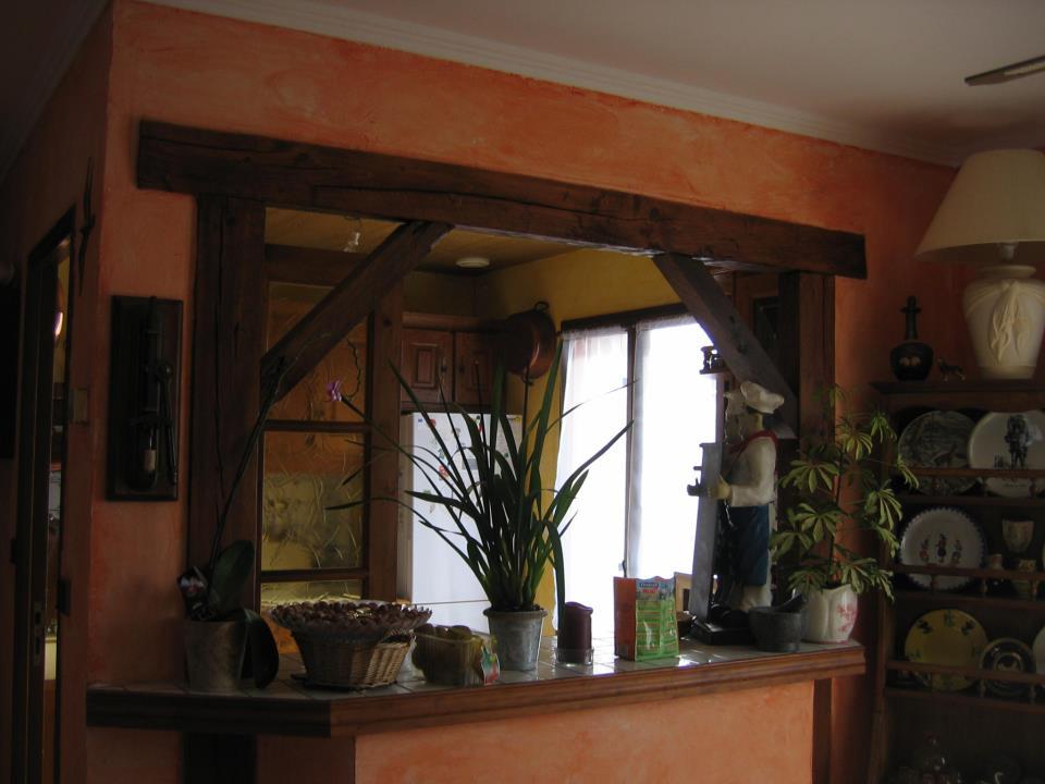 L int rieur de la maison maison vendre for Ouverture cuisine salon